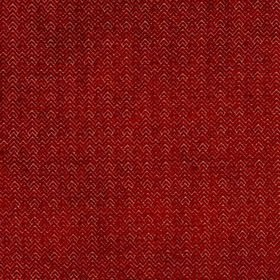 Reno - Cranberry - Fabric made from burgundy and white coloured viscose and polyester, featuring a design of textured zigzags and chevrons