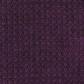 Reno - Grape - Viscose and polyester fabric in white, patterned with soft textured zigzags and chevrons in a very dark shade of purple
