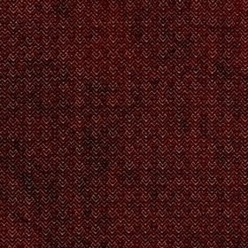 Reno - Rosso - Indulgent, deep maroon and white making up a textured pattern of zigzags and chevrons on viscose and polyester fabric