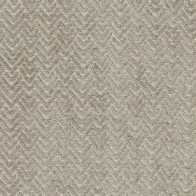 Reno - Silver - Two similar light shades of grey making up a subtle, textured chevron and zigzag design on viscose and polyester fabric
