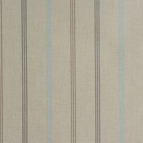 Waterford - Duckegg - Three thin dark brown-grey dashed stripes woven into stone coloured fabric made from 100% cotton