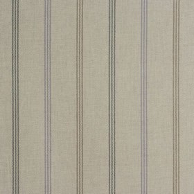 Waterford - Heather - 100% cotton fabric made in very pale cloud grey, woven with thin vertical stripes in charcoal and dark grey shades