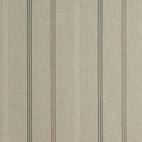 Waterford - Natural - White and beige coloured fabric made from 100% cotton, featuring a subtle design of three thin, dashed, vertical strip