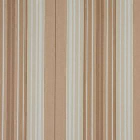 Beachcomber - Natural - Warm caramel, brown, cream and white shades making up a vertical striped pattern on 100% cotton fabric
