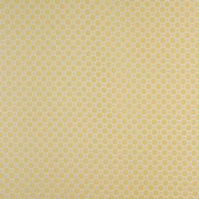 Honeycomb - Honey - Cotton and polyester blend fabric made in light butter yellow and pale grey-white, with geometric squares and octagons
