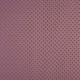 Honeycomb - Jewel - Squares and octagons making up a simple geometric design on cotton and polyester fabric in grey & vivid fucshia colours