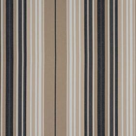 Beachcomber - Charcoal - Vertically striped fabric made from 100% cotton in brown-grey, black, charcoal grey and white