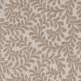 Deauville - Natural - Polyester, cotton and wool blend fabric made in pale grey, with an elegant dark grey design of small, delicate leaves