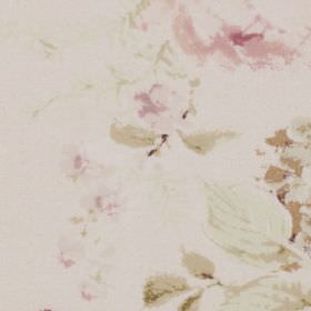 Fenwick - Chintz - Light shades of pink, beige and off-white making up a soft, delicate floral pattern on fabric made from 100% cotton