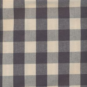 Breeze - Charcoal - Simple checks in charcoal grey and cream covering 100% cotton fabric