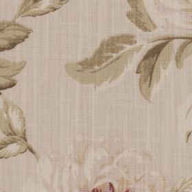 Harriet - Linen - Light shades of grey and beige making up an elegant, sophisticated floral design on 100% cotton fabric