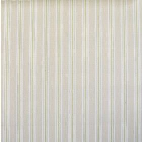 Baystripe - Pampas - Vertically striped 100% cotton fabric in white, cream-grey and light green