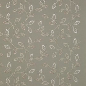 Katrina - Duckegg - Three different light, sophisticated shades of grey making up a pretty leaf pattern on fabric made from 100% polyester