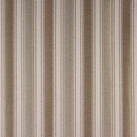 Le Havre - Natural - Polyester, cotton and wool blend fabric woven with wide and narrow vertical stripes in pale grey, brown and beige shade
