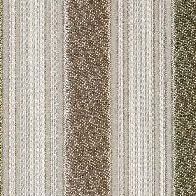 Le Havre - Sand - Fabric made from polyester, cotton and wool in brown, dark grey and pale grey, woven with wide and narrow vertical stripes