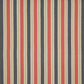 New Haven - Heritage - Dark orange, dark grey, brown and biscuit coloured striped 100% cotton fabric