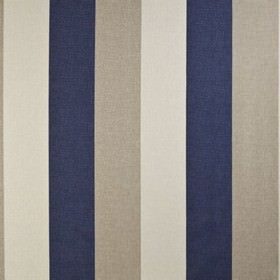 Bali - Navy - Dove grey and very pale grey-white coloured 100% cotton fabric patterned with wide, simple vertical stripes