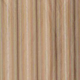 Ascot Stripe - Natural Mauve - Warm brown, caramel and beige colours making up a thin vertical stripe design on fabric made from 100% silk