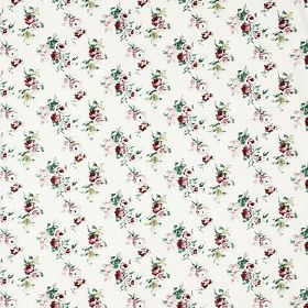 Emmie Ros - Multicolour - Whtie IKEA fabric with red and green flower pattern