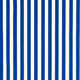 Sofia - Bright Blue - White and bright blue striped IKEA fabric