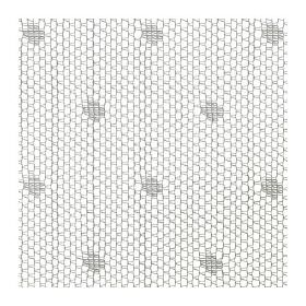 Sunrid - White - A small, simple, chain type pattern printed in grey on a white hard wearing fabric background