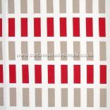 IKEA - Bettina - Red, White and Tan Rectangles