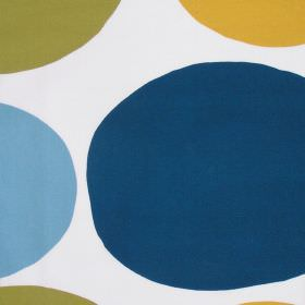IKEA - Elsa - Large Light Blue, Dark Blue, Mustard And Green Circles