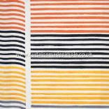 IKEA - Farida - Yellow, Black, Grey And Orange Wavy Stripes