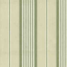 Empire 1 - Sage - Beige cotton fabric with sage stripes