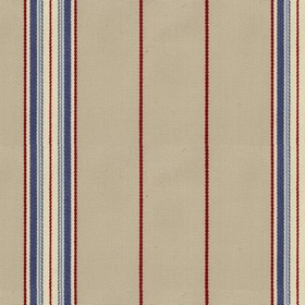 Empire 25 - Airforce - Beige cotton fabric with red and blue stripes