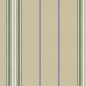 Empire 25 - Sage - Beige cotton fabric with green and blue stripes