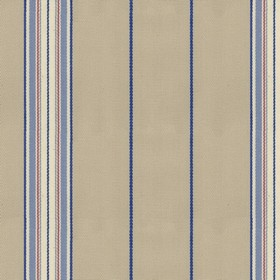 Empire 25 - Sky - Beige cotton fabric with blue stripes