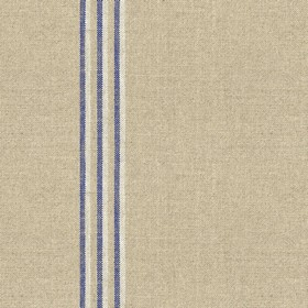 Grain Stripe - Nordic Indigo - Grey linen fabric with grey and indigo stripes