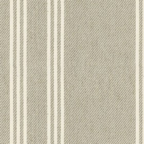 Harvest Stripe - 6 - Grey linen fabric with cream stripes