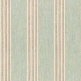 Henley Stripe - Mint Pink - Mint cotton fabric with pink colour stripes