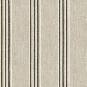 Henley Stripe - Putty Black - Taupe cotton fabric with black colour stripes