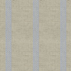 Hopsack Stripe - Bluebell - Grey linen fabric with blue stripes