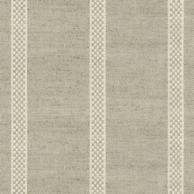 Hopsack Stripe - Natural - Grey linen fabric with natural stripes