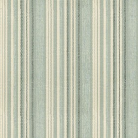 Hove Stripe - Mint - Cotton fabric with cream, mint and green stripes