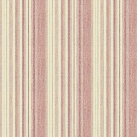 Hove Stripe - Pink - Cotton fabric with cream and pink stripes