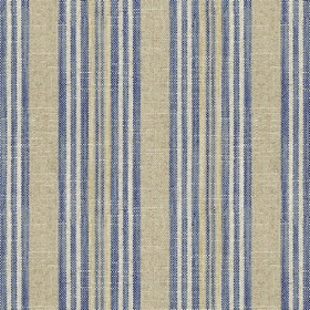 Jura Stripe - Blue - Grey fabric with blue stripes