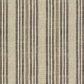 Jura Stripe - Brown - Grey fabric with brown stripes