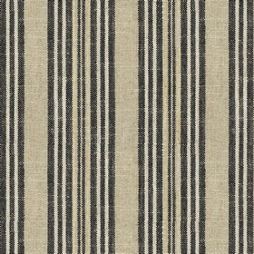 Jura Stripe - Charcoal - Grey fabric with charcoal stripes