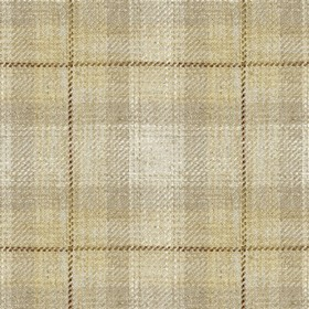 Kintyre Check - Natural - Cream fabric with natural checkered pattern