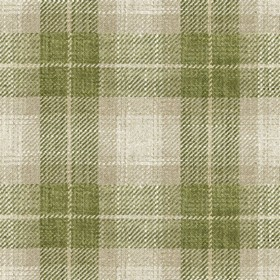 Kintyre Check - Sage - Cream fabric with sage checkered pattern