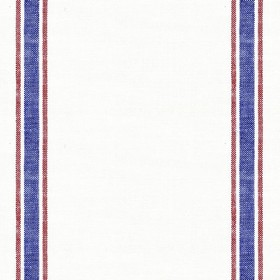 Linen 25 - Stripe - Cream linen fabric with red and blue stripes