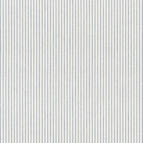 Lining Stripe - Indigo - Beige cotton fabric with indigo stripes