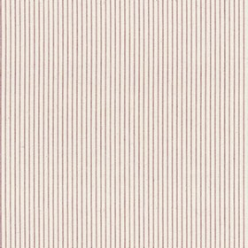 Lining Stripe - Peony - Beige cotton fabric with red stripes