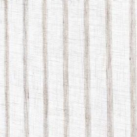 Newlyn - Natural - Natural linen fabric with natural colored stripes