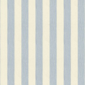 Norfolk Stripe - Bluebell - Cream cotton fabric with blue stripes